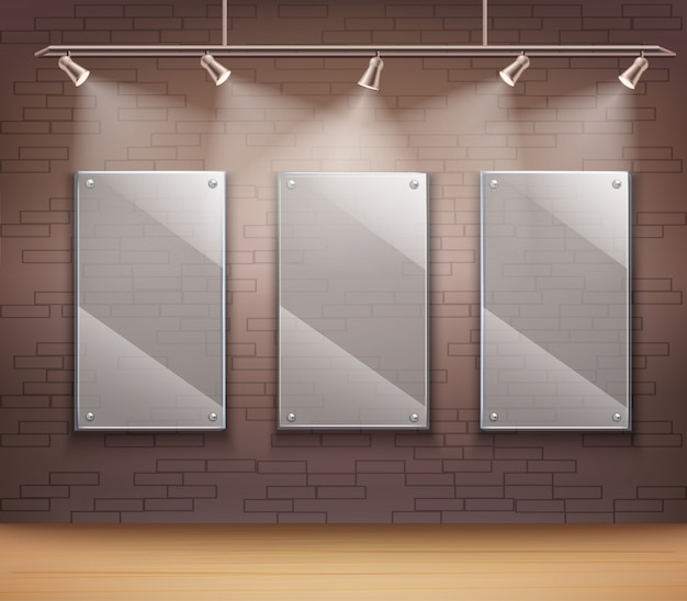 Glass gallery frames Free Vector