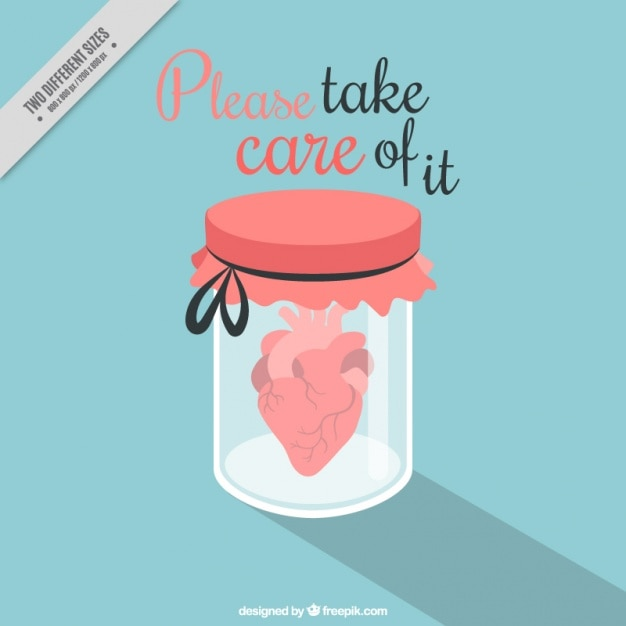 Glass jar with heart and valentine\ message