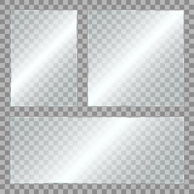 Glass with glare Premium Vector