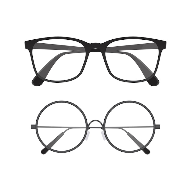 Glasses illustration isolated on white Premium Vector