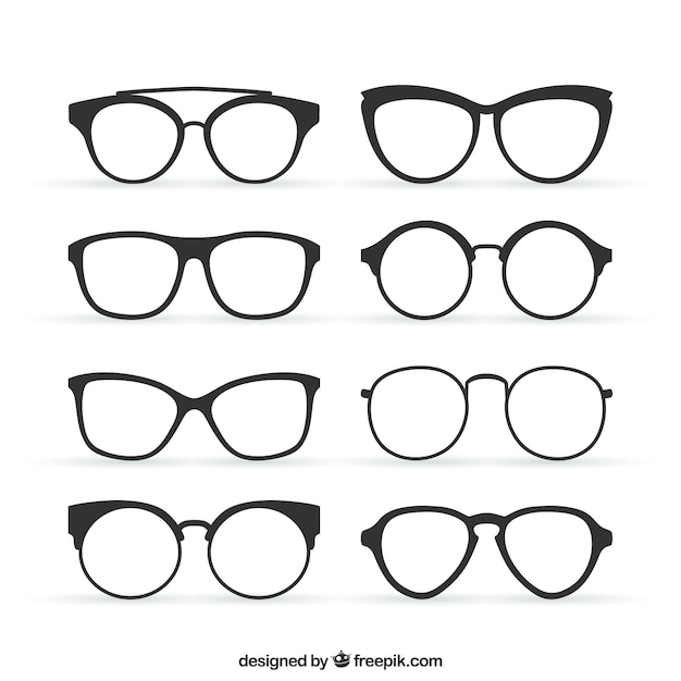Glasses in retro style Vector | Free Download