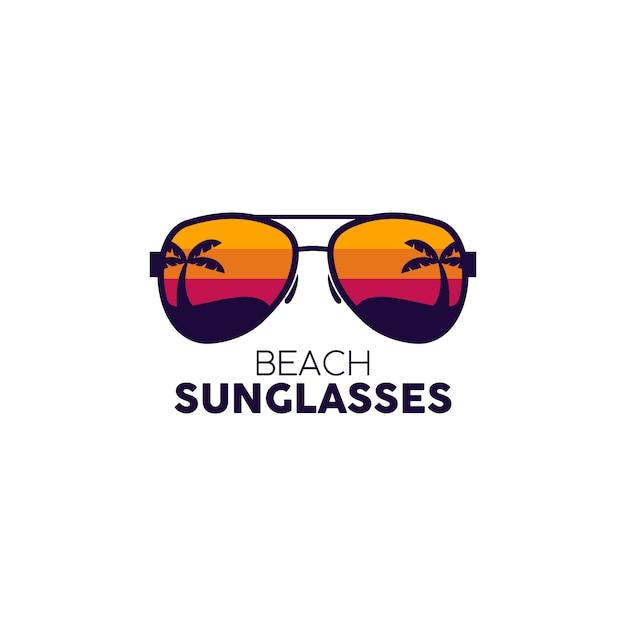 Glasses logo Premium Vector