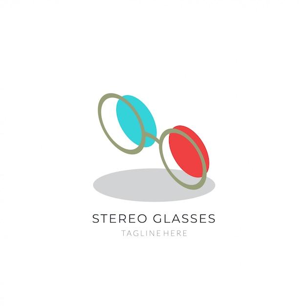 Glasses logo. Premium Vector