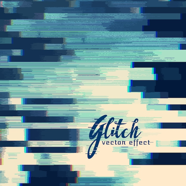 Glitch abstract background in blue shade Free Vector