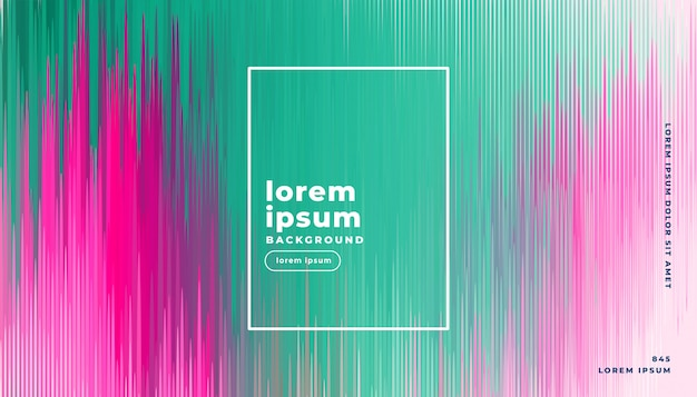 Glitch background in abstract lines style Free Vector
