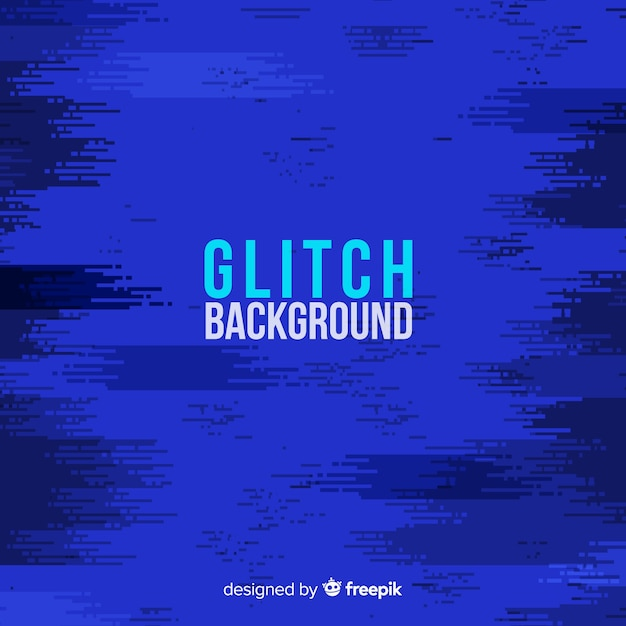 Glitch background Free Vector