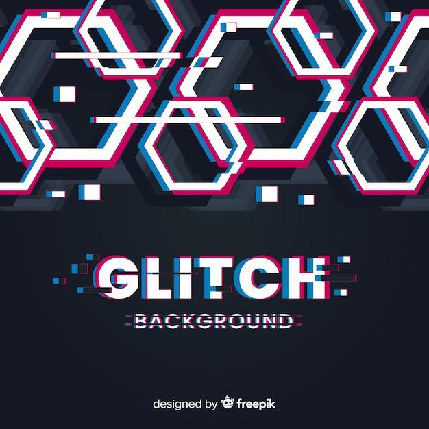 Glitch background Free Vector