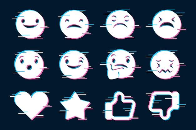Набор иконок для смайликов Бесплатные векторы