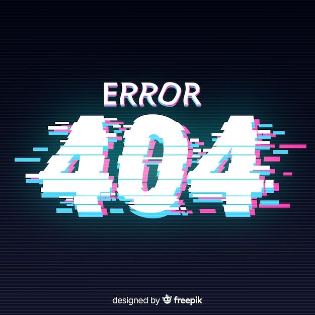 Glitch error 404 page background Free Vector