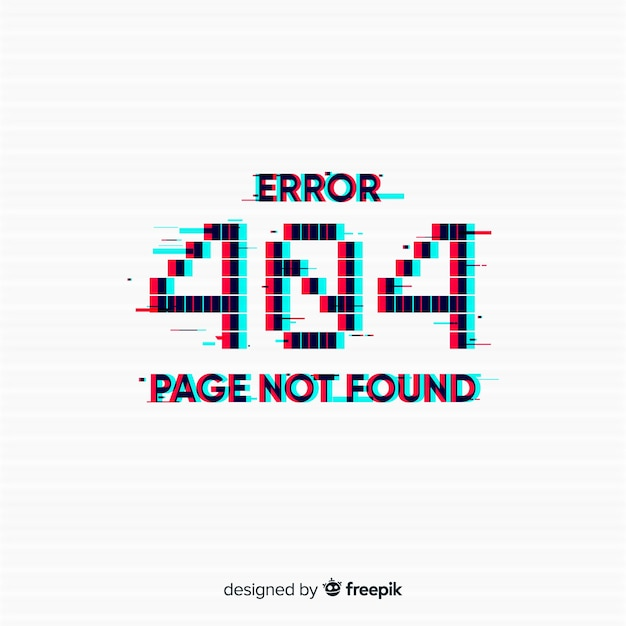 Glitch error 404 page background Free Vector
