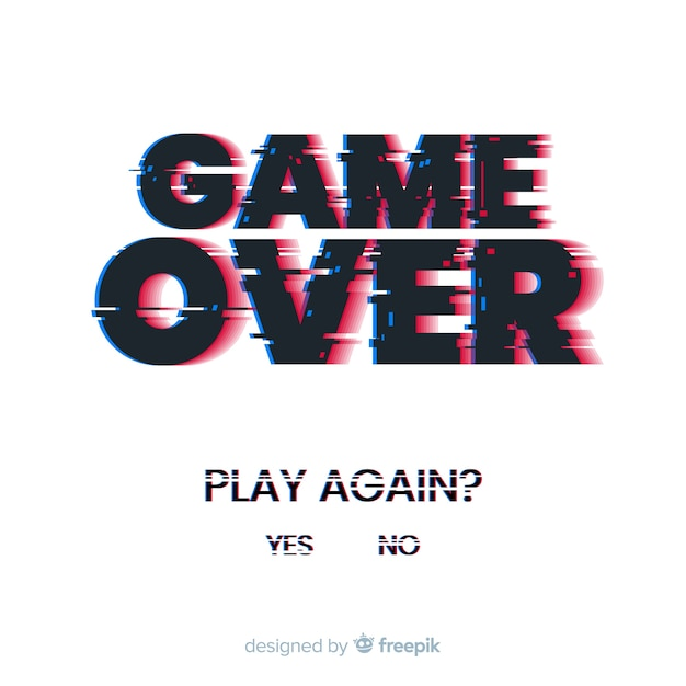 Free Vector Glitch Game Over Background