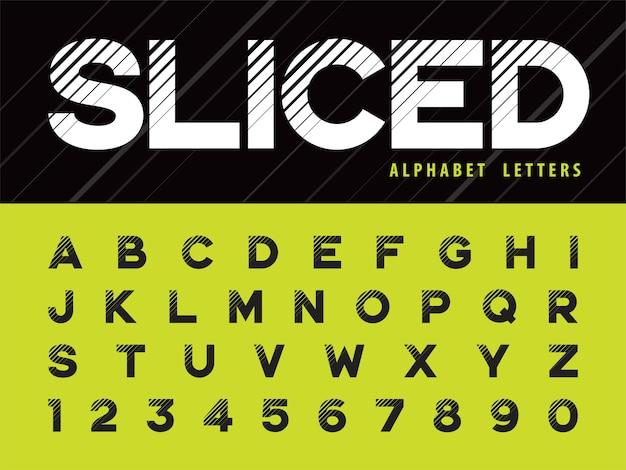 Glitch современный алфавит буквы и цифры Premium векторы