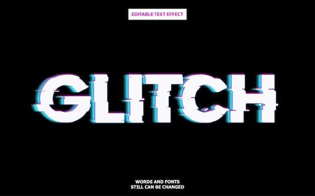 Редактируемый эффект шрифта в стиле glitch Premium векторы