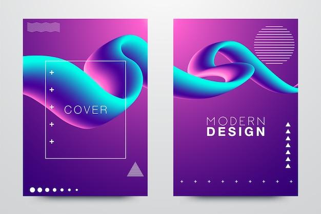 Glitched triangle frame design set. distorted glitch style modern background Premium Vector