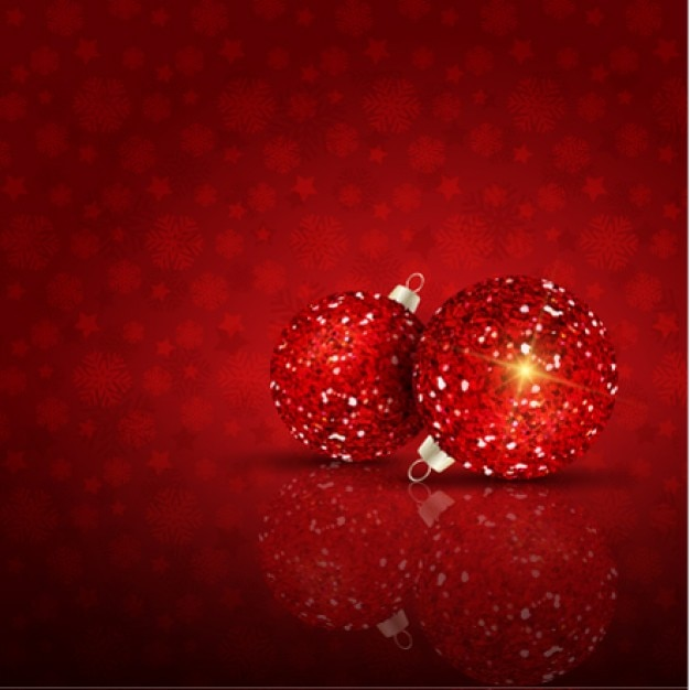 Glitter christmas balls background