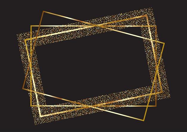 Glitter frame background Free Vector