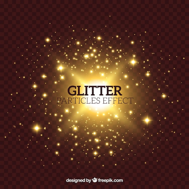 Glitter particles effect Free Vector