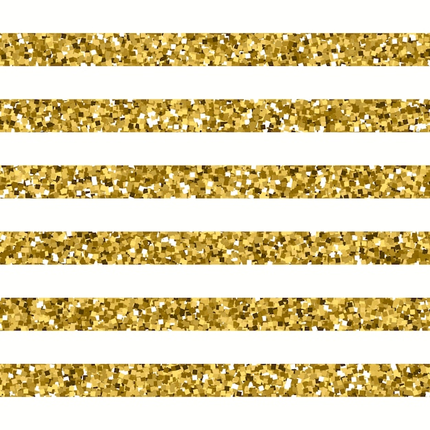 Glitter striped pattern with sparkly gold effect Premium Vector