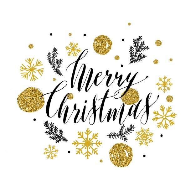 Glitter style lettering for christmas Free Vector