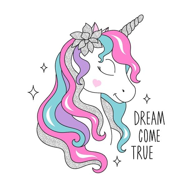 Unicorn glitter drawing