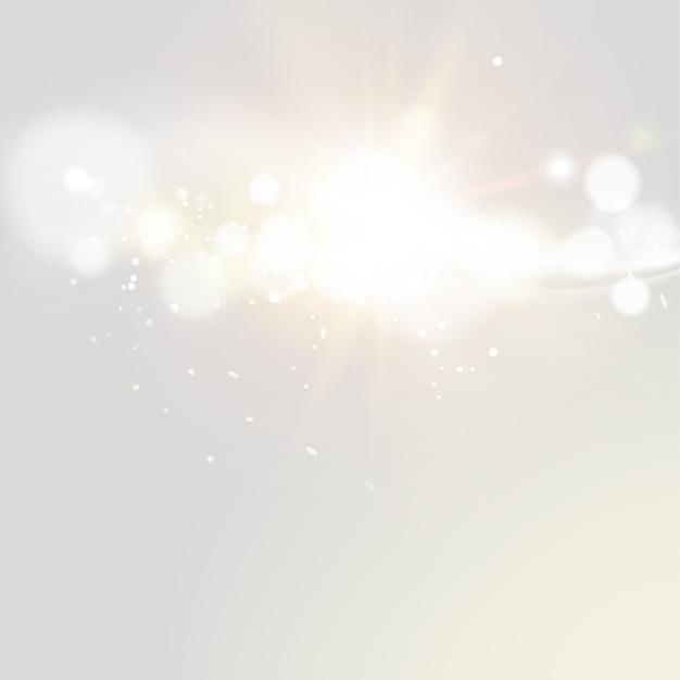 Glitter vintage lights. Premium Vector