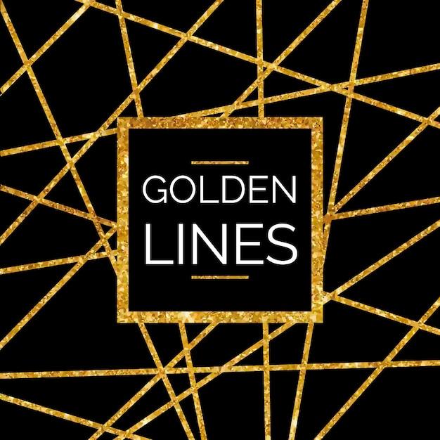 Glittering golden lines Premium Vector