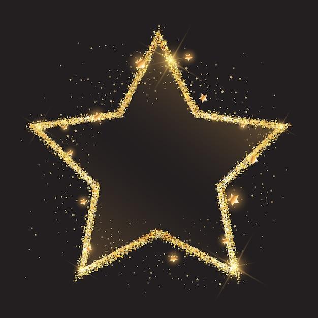 Sfondo scintillante stella d'oro Vettore gratuito