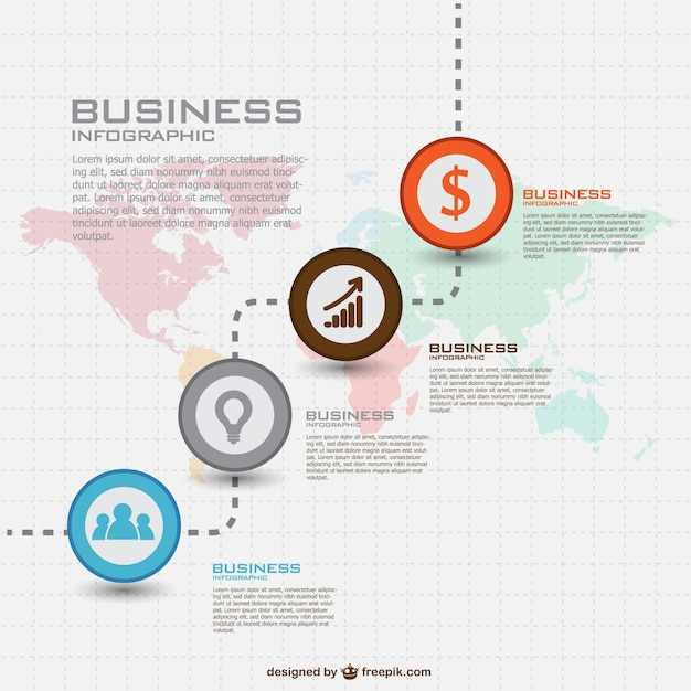 Global business infographic Free Vector