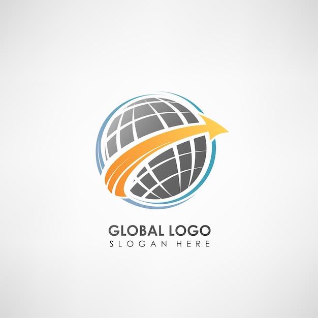 Global concept logo template Premium Vector