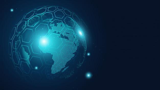 Глобальный фон связи, Premium векторы