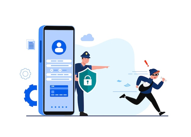 Global data security, personal data security, cyber data security online concept illustration, internet security or information privacy & protection. Free Vector