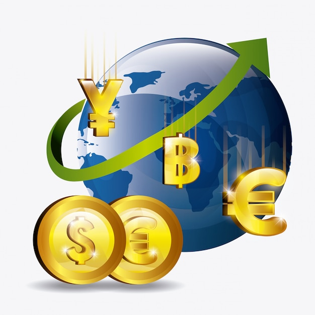 Global economy design. Free Vector