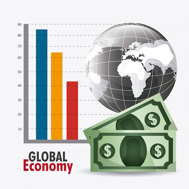Global economy design. Free Vector
