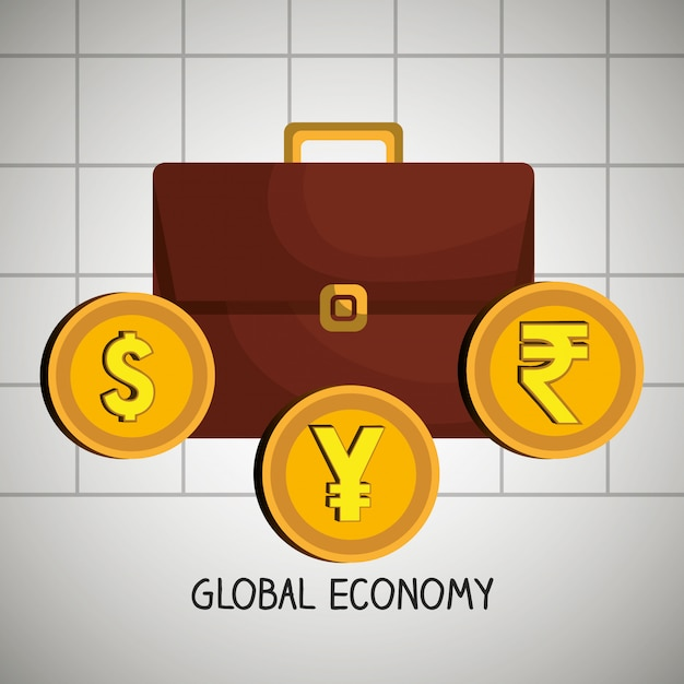 Global economy Free Vector