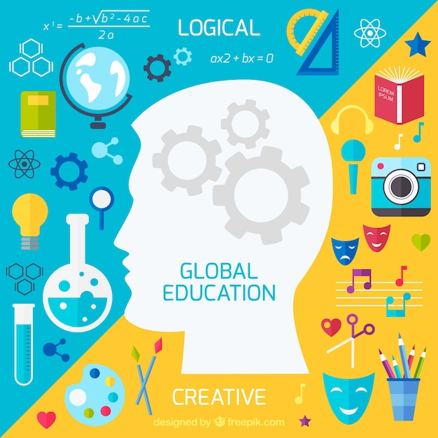 Global education background | Free Vector