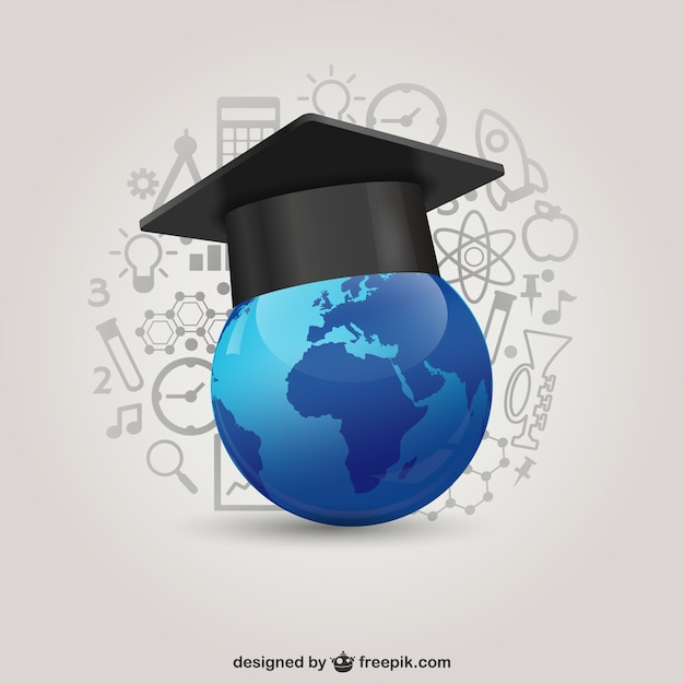 Global education concept Free Vector