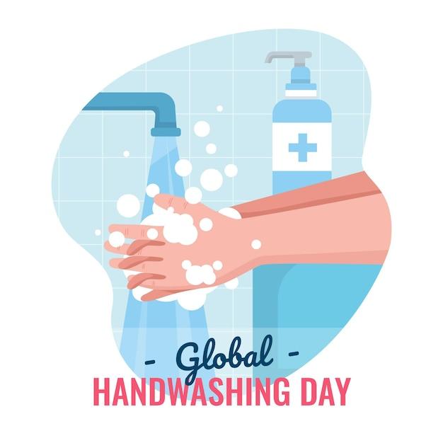 グローバル手洗い日のコンセプト Premiumベクター