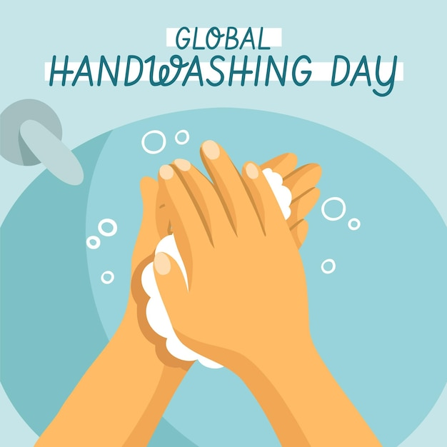 世界的な手洗いの日 無料ベクター