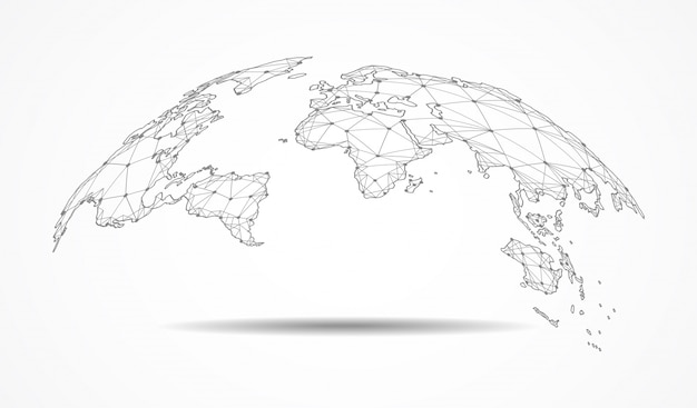 Global network connection. Premium Vector