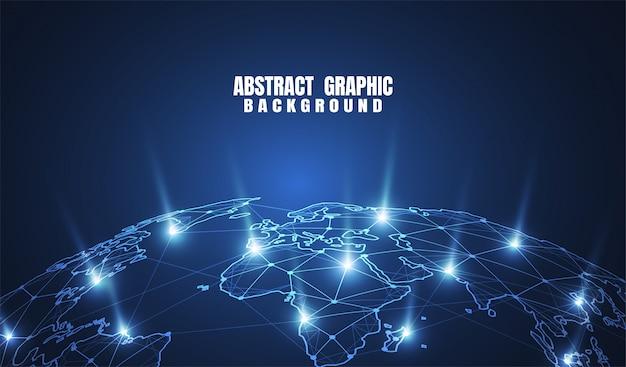 Global network connection. Premium Vector