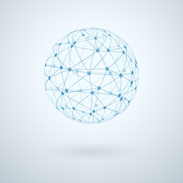 Global network icon Free Vector