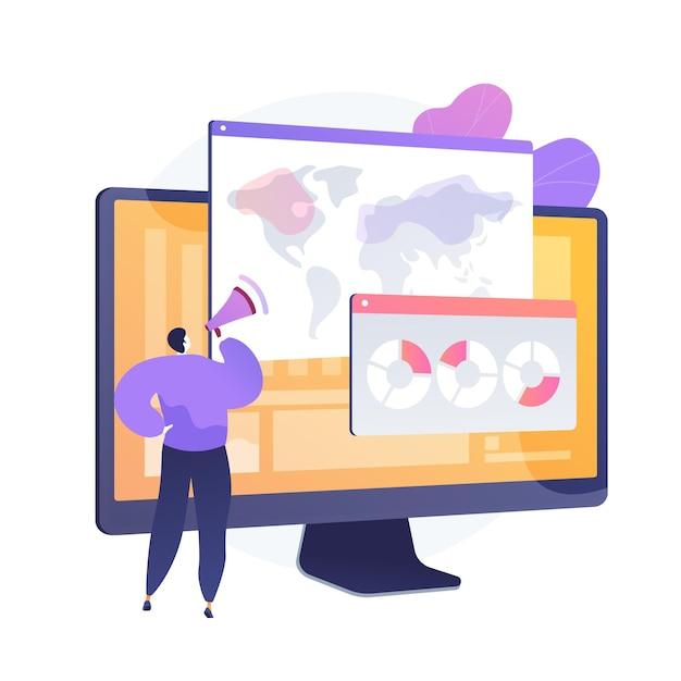 Analisi globale del sondaggio online. mappa del mondo, strategia di marketing, sondaggi. analisi delle risposte al questionario dei cittadini di diversi paesi. Vettore gratuito