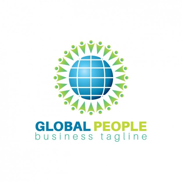 Global people logo template vector free download for Global design company
