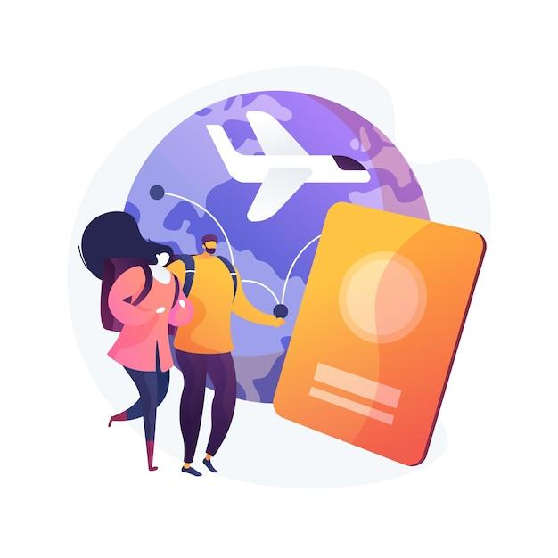 Глобальное путешествие абстрактное понятие векторные иллюстрации. глобальное страхование, кругосветное путешествие, международный туризм, туристическое агентство, рабочий отпуск, роскошный отдых курортной цепи абстрактная метафора. Бесплатные векторы