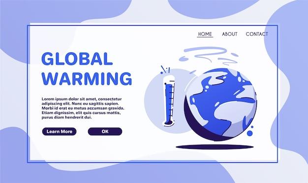 地球温暖化の概念。ステッカーまたはロゴ。ゼロウェイスト。気候変動。地球 Premiumベクター