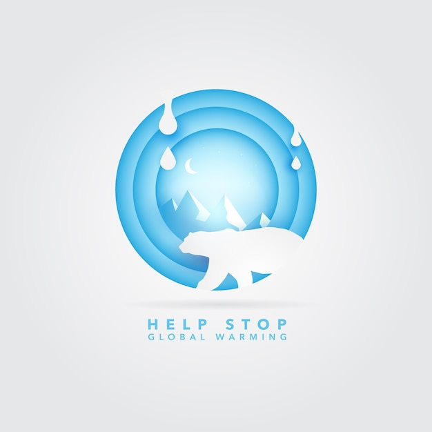 Global warming logo Free Vector