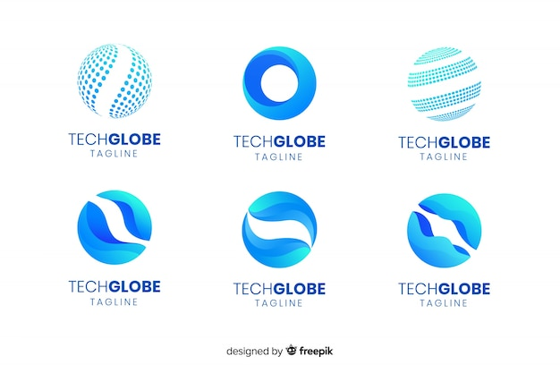 Globe logos Free Vector
