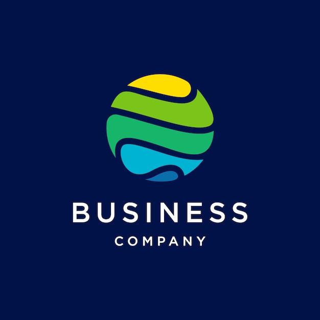 Globe tech logo Premium Vector