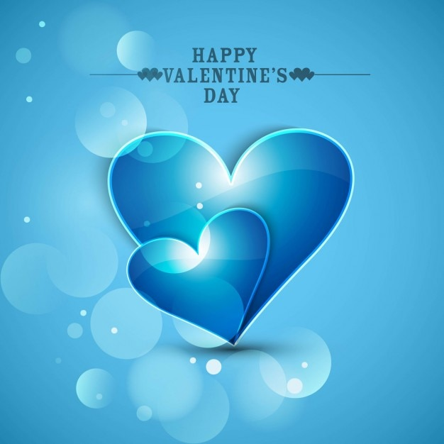 Glossy Blue Color Love Background Vector Free Download