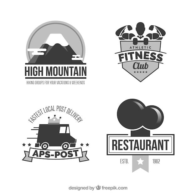 Glossy creative logo designs